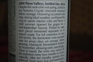 Ridge Vineyards label