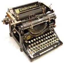 old Underwood typewriter