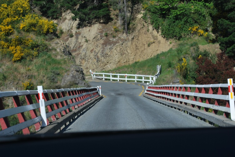 One-lane bridges are a commonplace as you drive the southern island.