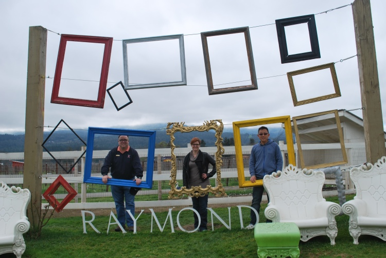 "Our first order of business on Day One was a chance to get ""Down and Dirty"" at Raymond Vineyards in Rutherford. Here, Julia Case, Dong Li, and I find out if we are going to fit within the Raymond framework."