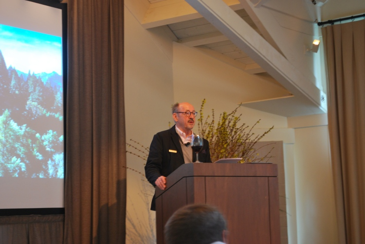 """The symposium's first full day was dedicated to the craft of writing, as well as current publication trends in the industry. The day got underway with a smart, and often funny, keynote address by U. S. Poet Laureate Billy Collins (2001-2003), titled """"There Stands the Glass: Description and Story."""""""